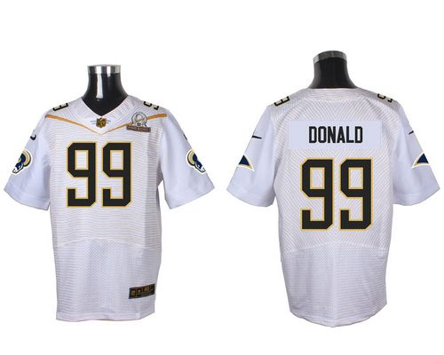 Nike Rams #99 Aaron Donald White 2016 Pro Bowl Men's Stitched NFL Elite Jersey