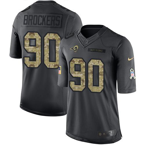 Nike Rams #90 Michael Brockers Black Men's Stitched NFL Limited 2016 Salute to Service Jersey