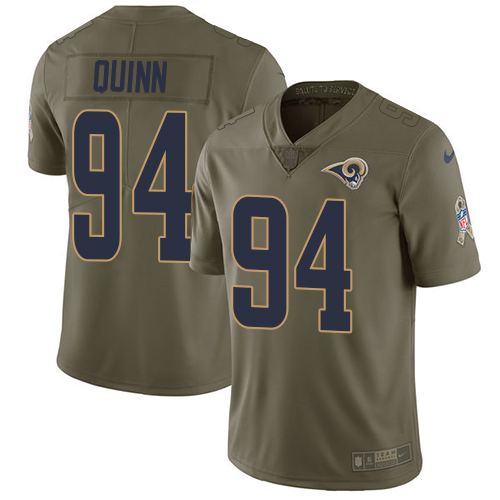 Nike Rams #94 Robert Quinn Olive Men's Stitched NFL Limited Salute to Service Jersey