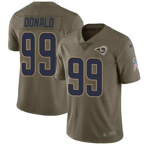 Nike Rams #99 Aaron Donald Olive Men's Stitched NFL Limited Salute to Service Jersey