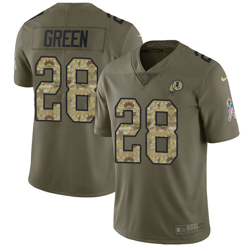 Nike Redskins #28 Darrell Green Olive/Camo Men's Stitched NFL Limited Salute To Service Jersey