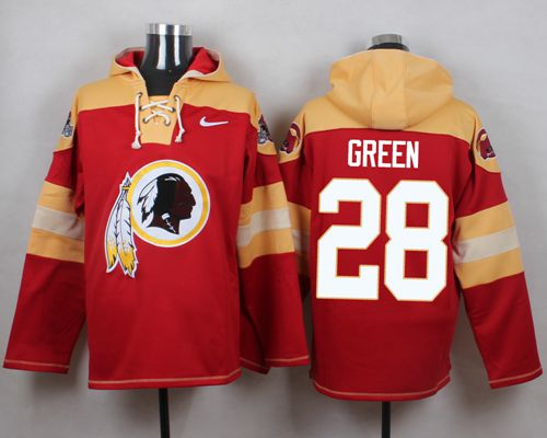Nike Redskins #28 Darrell Green Burgundy Red Player Pullover NFL Hoodie