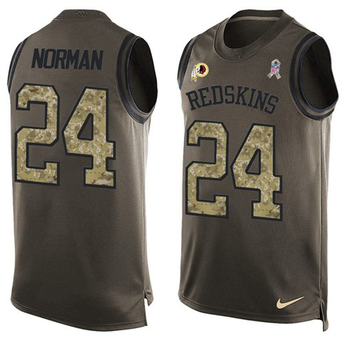 Nike Redskins #24 Josh Norman Green Men's Stitched NFL Limited Salute To Service Tank Top Jersey