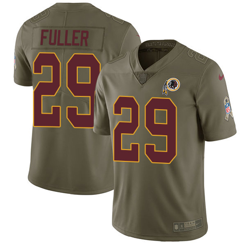 Nike Redskins #29 Kendall Fuller Olive Men's Stitched NFL Limited Salute To Service Jersey