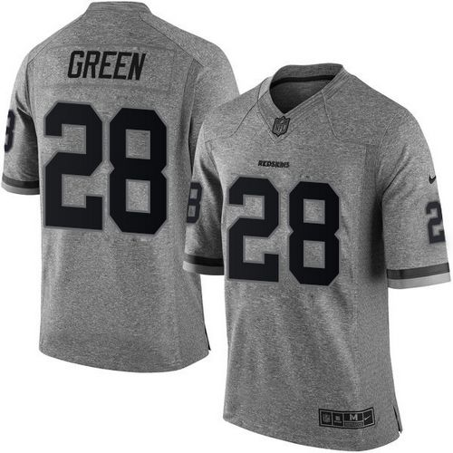 Nike Redskins #28 Darrell Green Gray Men's Stitched NFL Limited Gridiron Gray Jersey