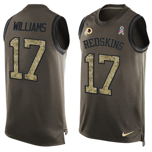 Nike Redskins #17 Doug Williams Green Men's Stitched NFL Limited Salute To Service Tank Top Jersey