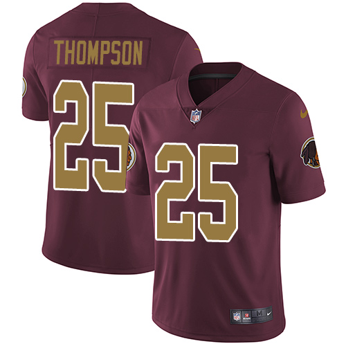 Nike Redskins #25 Chris Thompson Burgundy Red Alternate Men's Stitched NFL Vapor Untouchable Limited Jersey