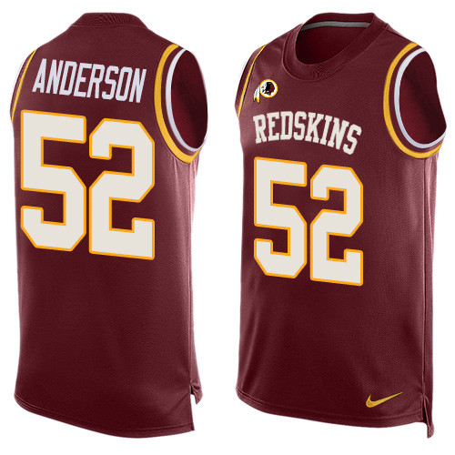 Nike Redskins #52 Ryan Anderson Burgundy Red Team Color Men's Stitched NFL Limited Tank Top Jersey