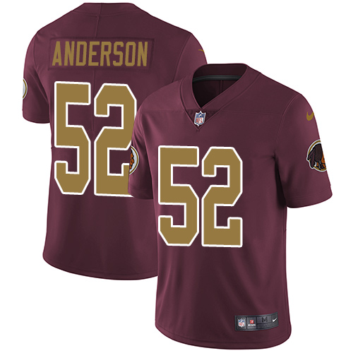 Nike Redskins #52 Ryan Anderson Burgundy Red Alternate Men's Stitched NFL Vapor Untouchable Limited Jersey