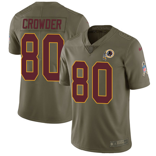 Nike Redskins #80 Jamison Crowder Olive Men's Stitched NFL Limited Salute To Service Jersey
