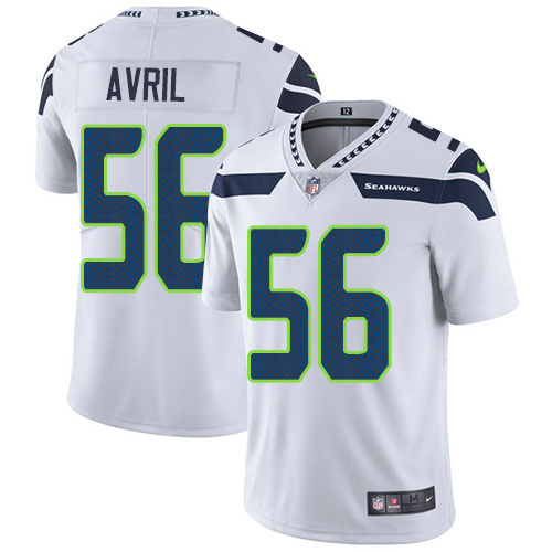 Nike Seahawks #56 Cliff Avril White Men's Stitched NFL Vapor Untouchable Limited Jersey