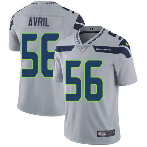 Nike Seahawks #56 Cliff Avril Grey Alternate Men's Stitched NFL Vapor Untouchable Limited Jersey