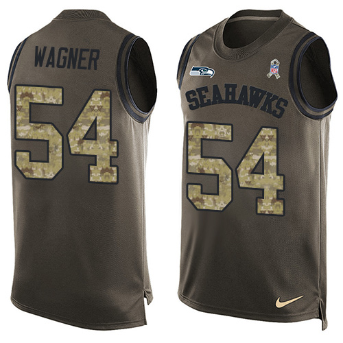 Nike Seahawks #54 Bobby Wagner Green Men's Stitched NFL Limited Salute To Service Tank Top Jersey