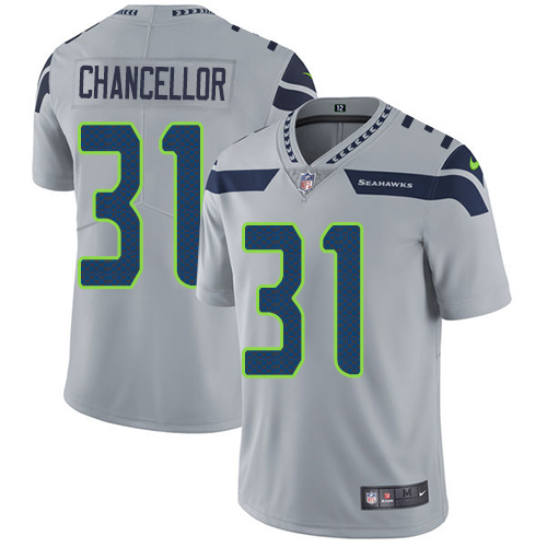 Nike Seahawks #31 Kam Chancellor Grey Alternate Men's Stitched NFL Vapor Untouchable Limited Jersey