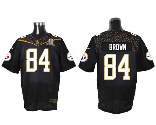 Nike Steelers #84 Antonio Brown Black 2016 Pro Bowl Men's Stitched NFL Elite Jersey