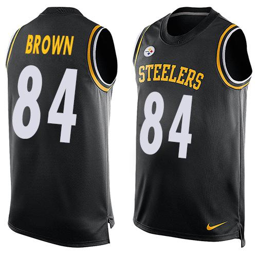 Nike Steelers #84 Antonio Brown Black Team Color Men's Stitched NFL Limited Tank Top Jersey