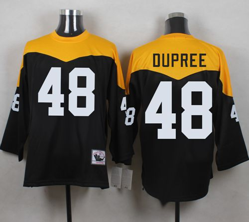 Mitchell And Ness 1967 Steelers #48 Bud Dupree Black/Yelllow Throwback Men's Stitched NFL Jersey