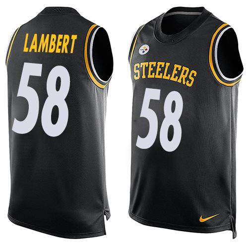 Nike Steelers #58 Jack Lambert Black Team Color Men's Stitched NFL Limited Tank Top Jersey