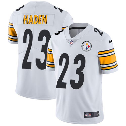 Nike Steelers #23 Joe Haden White Men's Stitched NFL Vapor Untouchable Limited Jersey