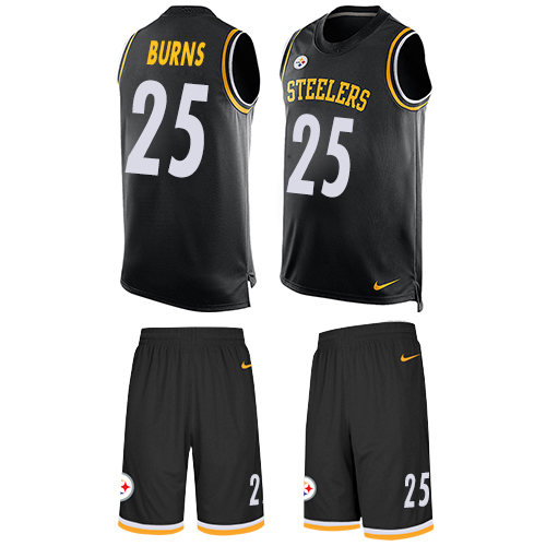 Nike Steelers #25 Artie Burns Black Team Color Men's Stitched NFL Limited Tank Top Suit Jersey