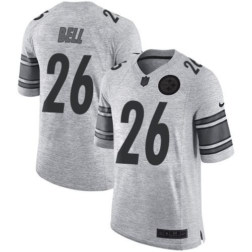 Nike Steelers #26 Le'Veon Bell Gray Men's Stitched NFL Limited Gridiron Gray II Jersey