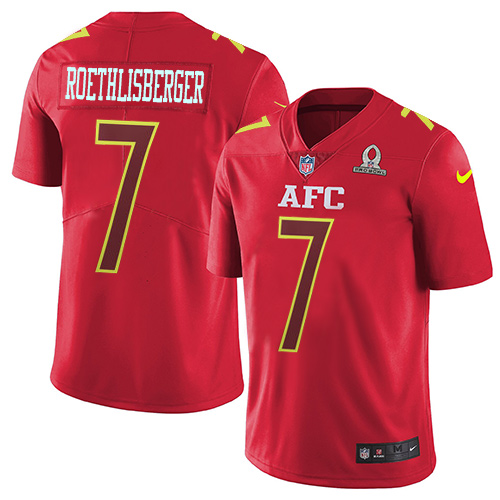 Nike Steelers #7 Ben Roethlisberger Red Men's Stitched NFL Limited AFC Pro Bowl Jersey