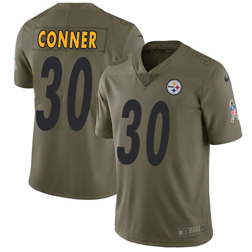 Nike Steelers #30 James Conner Olive Men's Stitched NFL Limited Salute to Service Jersey