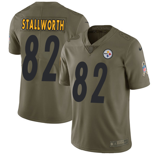 Nike Steelers #82 John Stallworth Olive Men's Stitched NFL Limited Salute to Service Jersey