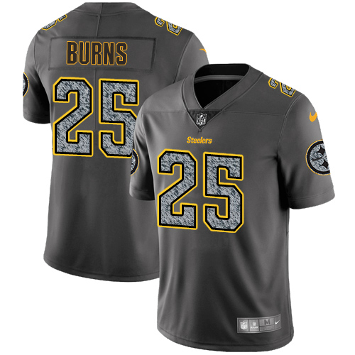 Nike Steelers #25 Artie Burns Gray Static Men's Stitched NFL Vapor Untouchable Limited Jersey