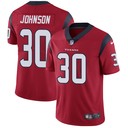 Nike Texans #30 Kevin Johnson Red Alternate Men's Stitched NFL Vapor Untouchable Limited Jersey