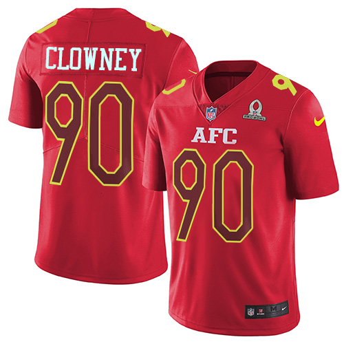 Nike Texans #90 Jadeveon Clowney Red Men's Stitched NFL Limited AFC Pro Bowl Jersey