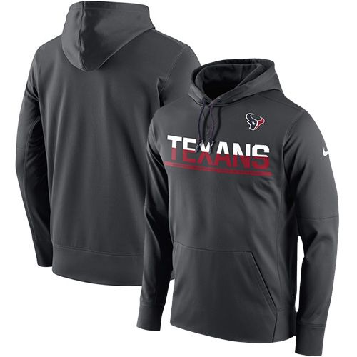 Men's Houston Texans Nike Sideline Circuit Anthracite Pullover Hoodie