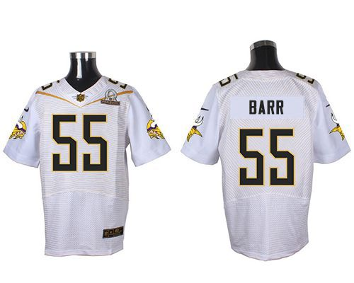Nike Vikings #55 Anthony Barr White 2016 Pro Bowl Men's Stitched NFL Elite Jersey