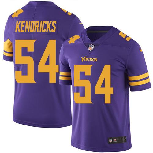 Nike Vikings #54 Eric Kendricks Purple Men's Stitched NFL Limited Rush Jersey