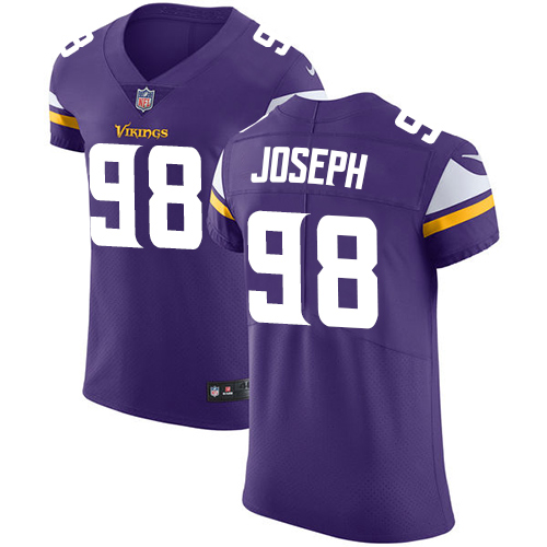 Nike Vikings #98 Linval Joseph Purple Team Color Men's Stitched NFL Vapor Untouchable Elite Jersey