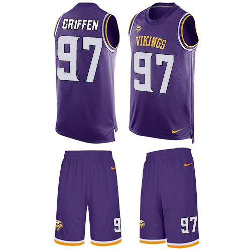 Nike Vikings #97 Everson Griffen Purple Team Color Men's Stitched NFL Limited Tank Top Suit Jersey