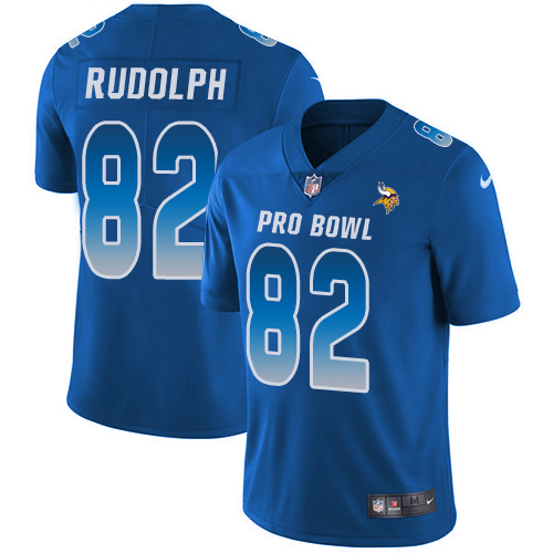 Nike Vikings #82 Kyle Rudolph Royal Men's Stitched NFL Limited NFC 2018 Pro Bowl Jersey