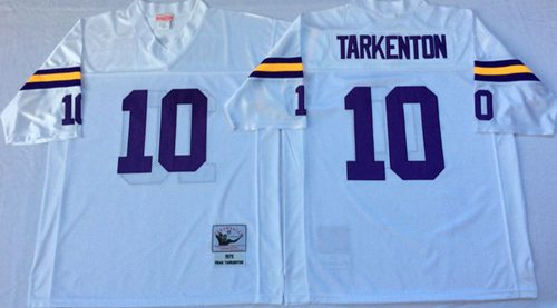 Mitchell And Ness Vikings #10 Fran Tarkenton White Throwback Stitched NFL Jersey
