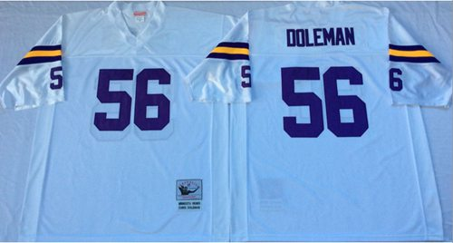 Mitchell And Ness Vikings #56 Chris Doleman White Throwback Stitched NFL Jersey