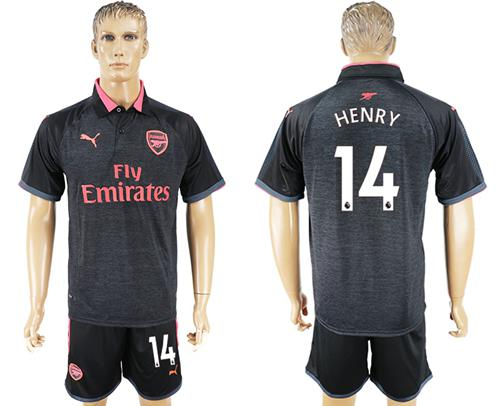 Arsenal #14 Henry Sec Away Soccer Club Jersey