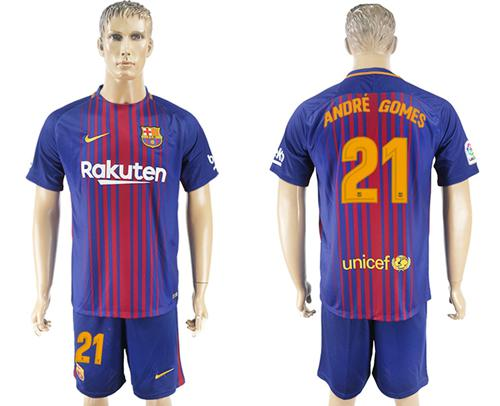 Barcelona #21 Andre Gomes Home Soccer Club Jersey