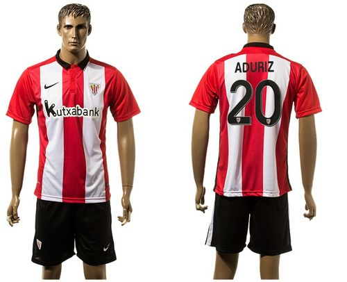 Athletic Bilbao #20 Aduriz Home Soccer Club Jersey
