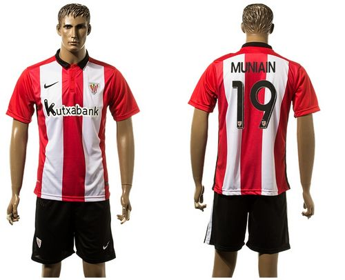 Athletic Bilbao #19 Muniain Home Soccer Club Jersey