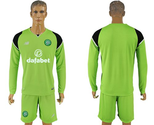 Celtic Blank Green Goalkeeper Long Sleeves Soccer Club Jersey
