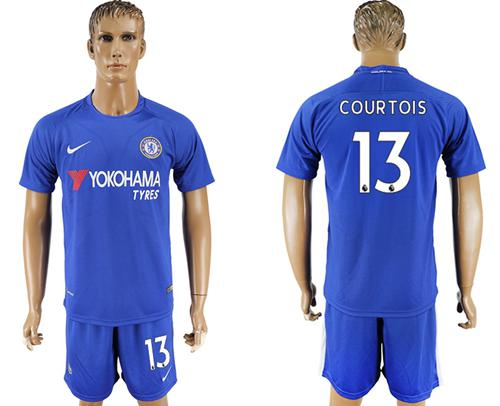 Chelsea #13 Courtois Home Soccer Club Jersey