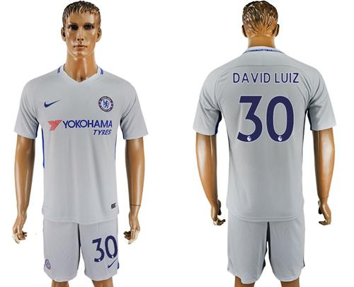 Chelsea #30 David Luiz Sec Away Soccer Club Jersey