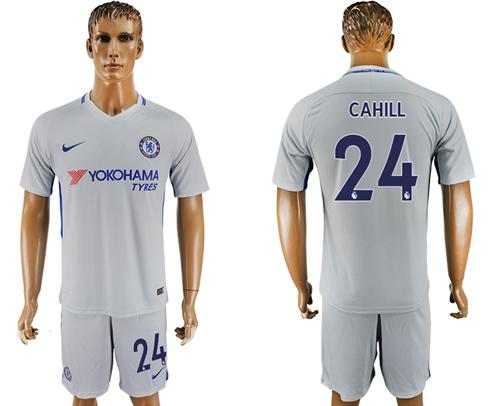 Chelsea #24 Cahill Sec Away Soccer Club Jersey