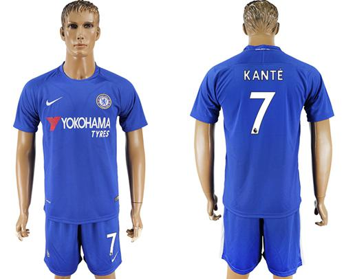 Chelsea #7 Kante Home Soccer Club Jersey