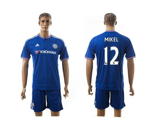 Chelsea #12 Mikel New Blue Soccer Club Jersey