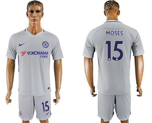 Chelsea #15 Moses Sec Away Soccer Club Jersey